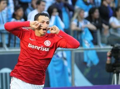 Leandro Damião marcou o gol de empate do Inter na Arena Foto: Luciano Leon / Futura Press