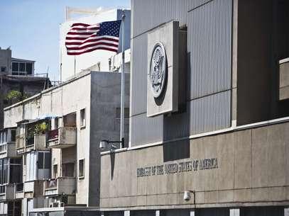 Embaixada dos Estados Unidos em Tel Aviv foi uma das que fechou neste domingo Foto: Reuters
