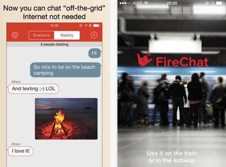 FireChat funciona em aparelhos da Apple com iOS 7 Foto: Reprodução
