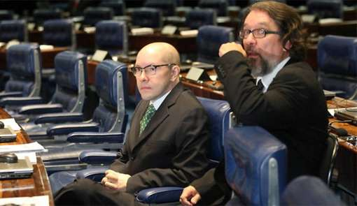O ex-senador e o advogado da tese da desproporcionalidade da  cassação