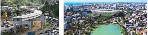 Arena Fonte Nova e obras do Metrô: contrastes que Dilma verá na visita a Salvador