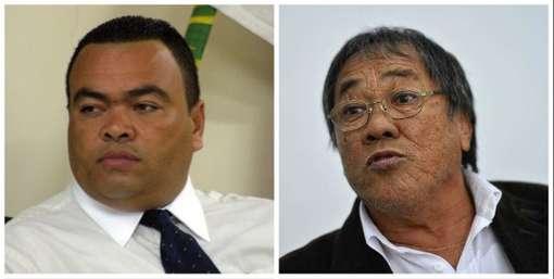 O atual presidente do Sindmotoristas, Valdevan Noventa, e o ex, Isao Hosogi - o Jorginho: disputa por poder numa trama policial inacreditável