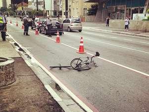 O ciclista foi atropelado na ciclofaixa da avenida Paulista Foto: Fábio Condutta / Terra