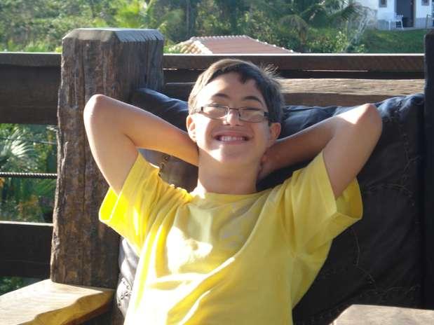 Lucca, 14 anos, estuda em uma escola regular da rede privada Foto:  / Arquivo Pessoal