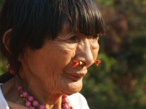 Bose Yacu morreu pouco depois da visita da BBC à sua tribo, no interior da Amazônia boliviana Foto:  / BBC