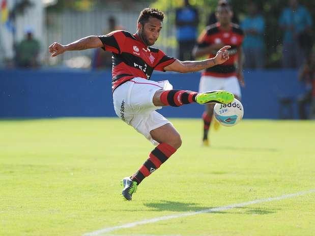 Ibson fez um belo gol de voleio no empate do Flamengo Foto: Daniel Ramalho / Terra
