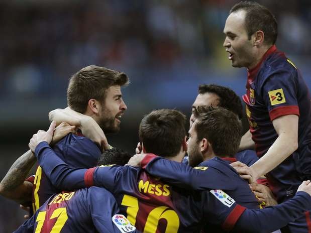 Barcelona encontrou resistência, mas deslanchou no fim e se classificou na Copa do Rei Foto:  / EFE