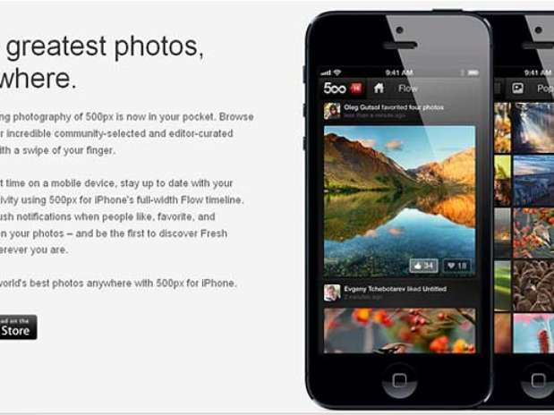 Aplicativo 500px foi barrado por precaução pela Apple após denúncias de pornografia infantil Foto: 500px / Divulgação