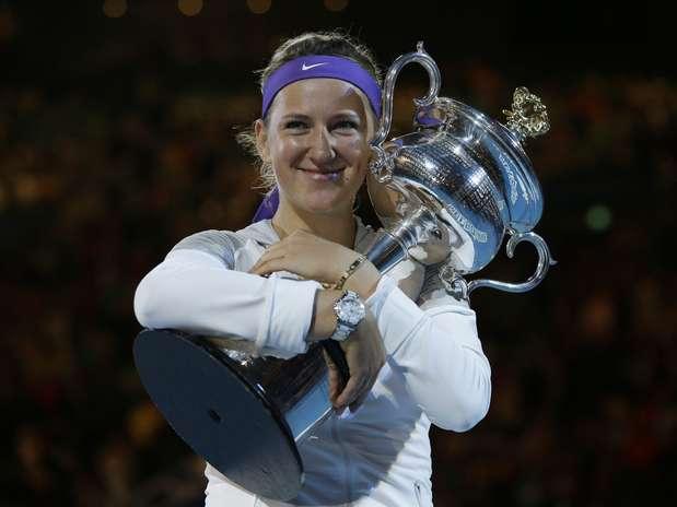 Número 1 do mundo, Victoria Azarenka teve que superar paralisações e se manter focada para vencer Na Li Foto:  / AP