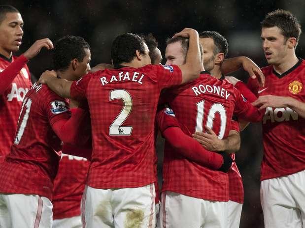 United goleou o Fulham por 4 a 1 Foto:  / AP
