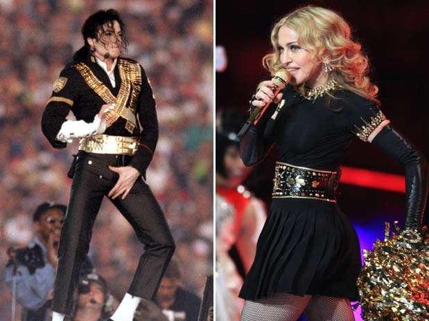 De Madonna a Michael Jackson, lembre principais shows do Super Bowl Montagemhalftimeshowrepregetty