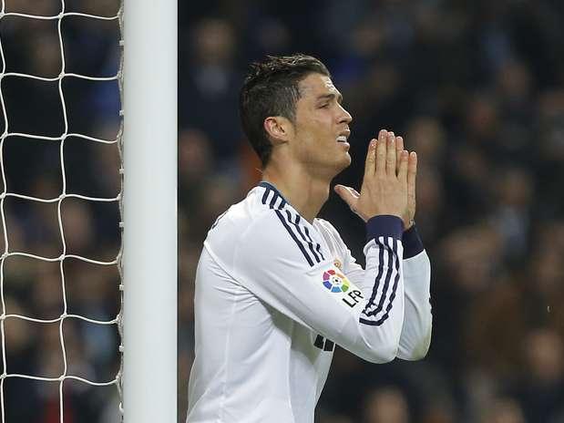 Cristiano Ronaldo lamenta chance desperdiçada pelo Real Madrid Foto:  / AP