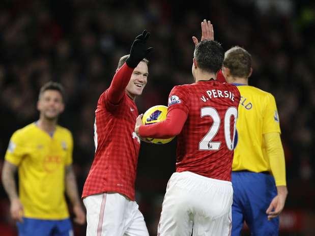 Rooney garantiu a vitória de virada do United Foto:  / AP