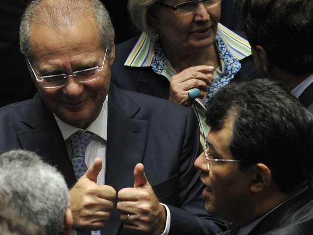 Renan Calheiros (PMDB-AL) voltou nesta sexta-feira à presidência do Senado após seis anos Foto: Antonio Cruz / Agência Brasil