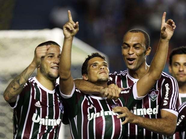 Jean abriu o placar com gol de falta para o Fluminense no primeiro tempo Foto: Ricardo Ayres/Photocamera / Divulgação