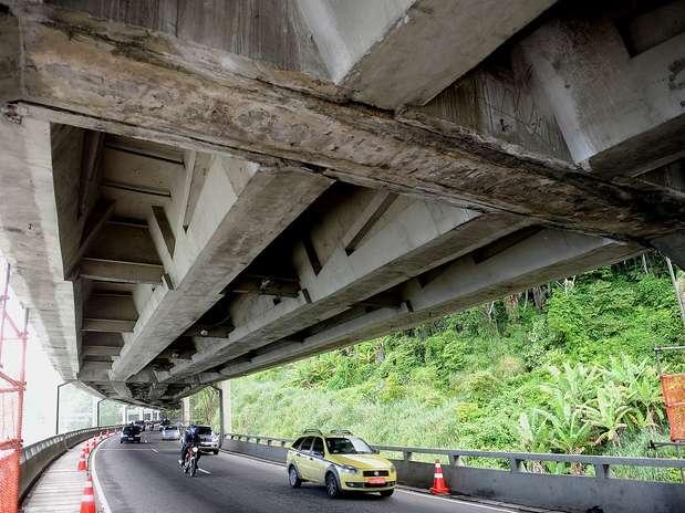 Levantamento feito por engenheiros da UFRJ aponta que estrutura poderia entrar em colapso Foto: Daniel Ramalho / Terra