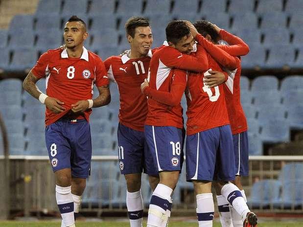 Em Madri, o Chile venceu o Egito por 2 a 0 nesta quarta-feira Foto: EFE