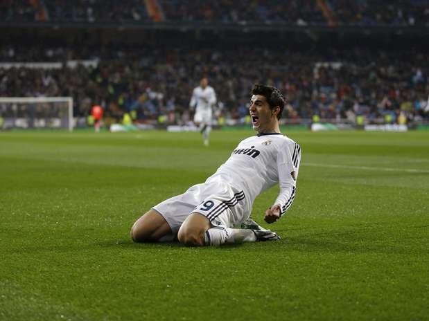 Morata fez o primeiro do Real Madrid, logo no começo da partida Foto: AP
