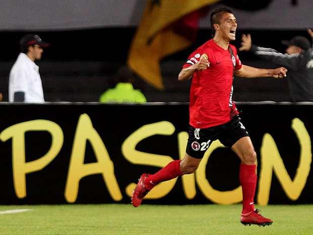 Ruiz fez o primeiro gol do Tijuana e garantiu a primeira vitória em Libertadores Foto: EFE