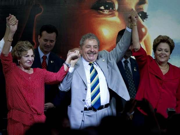 Lula lançou candidatura de Dilma à reeleição em evento pelos 10 anos do PT na Presidência Foto: Bruno Santos / Terra