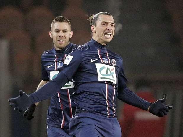 Sueco marcou um gol em cada tempo e garantiu PSG entre os classificados Foto: Reuters