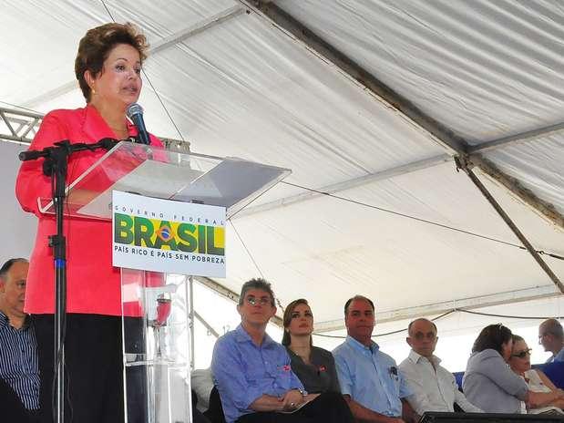 Dilma Rousseff esteve em João Pessoa, na capital do Estado Foto: Kleide Teixeira/Secom/PB / Divulgação
