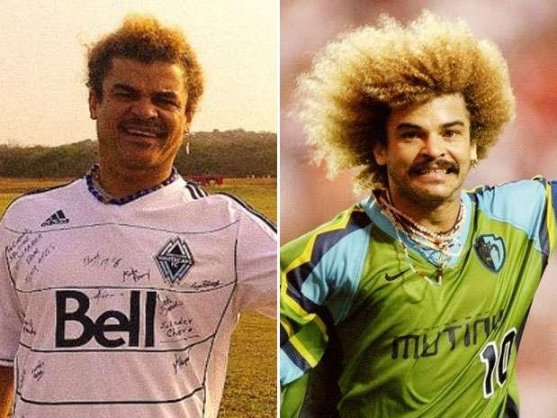 Colombiano Carlos Valderrama cortou sua famosa cabeleira Foto: Reprodução / Getty Images