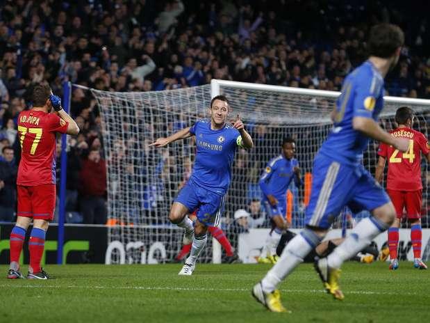 Depois de perder por 1 a 0 na Romênia, Chelsea venceu Steaua Bucareste por 3 a 1 em Londres Foto: Reuters