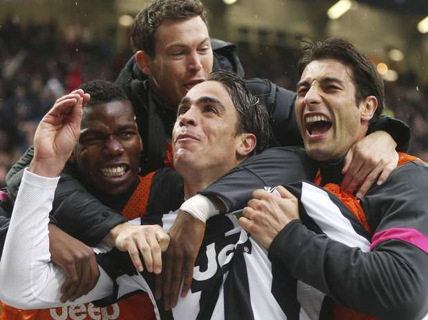 Matri definiu vitória da Juventus no clássico em Milão Foto: AP