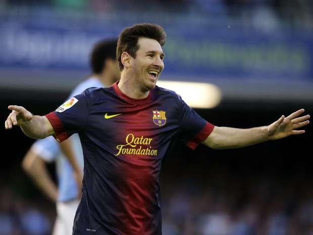 Lionel Messi ampliou seu recorde artilheiro, mas viu o Barcelona empatar com o Celta de Vigo Foto: Reuters
