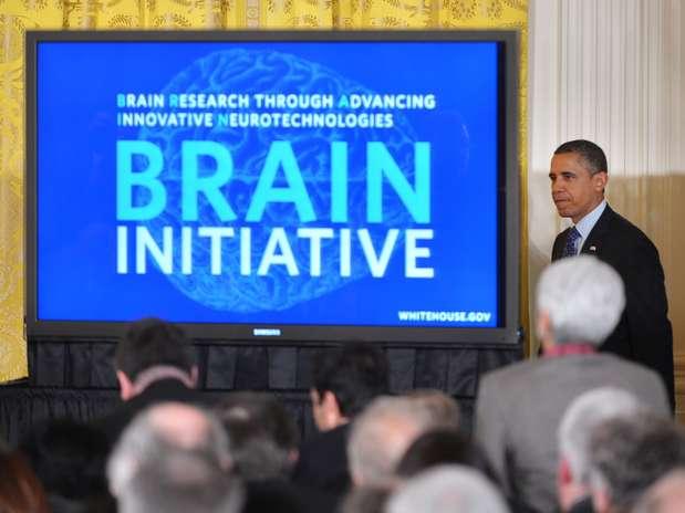 Presidente americano Barack Obama anunciainvestimento de US$ 100 milhões em pesquisas sobre o cérebro Foto: Mandel NGAN / AFP