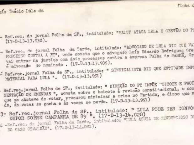 Em 1993, os movimentos de Lula na política nacional são destacados pelos investigadores Foto: Reprodução