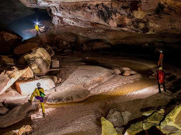 Cientistas descobriram, em março, uma caverna localizada na colina de Auyantepuy, no sudeste da Venezuela Foto: BBCBrasil.com
