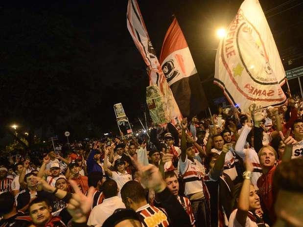 Confiantes, tricolores acreditam em vaga nas oitavas de final da Copa Libertadores Foto: Ricardo Matsukawa / Terra