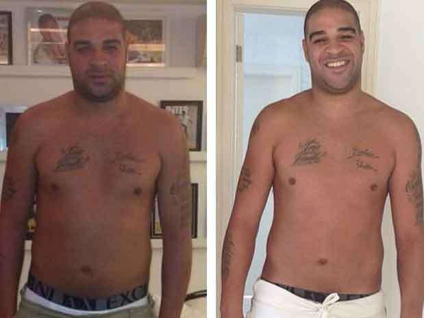 Sorridente e mais magro, Adriano posta foto no Instagram Foto: Instagram / Reprodução