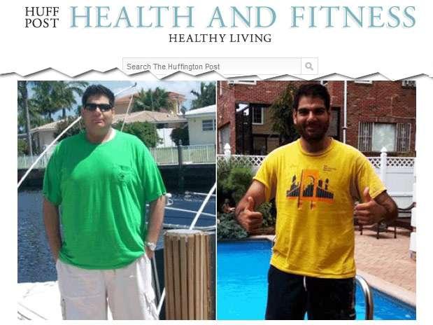 Michael Arkous perdeu 45 kg com mudançana alimentação e exercícios Foto: Reprodução