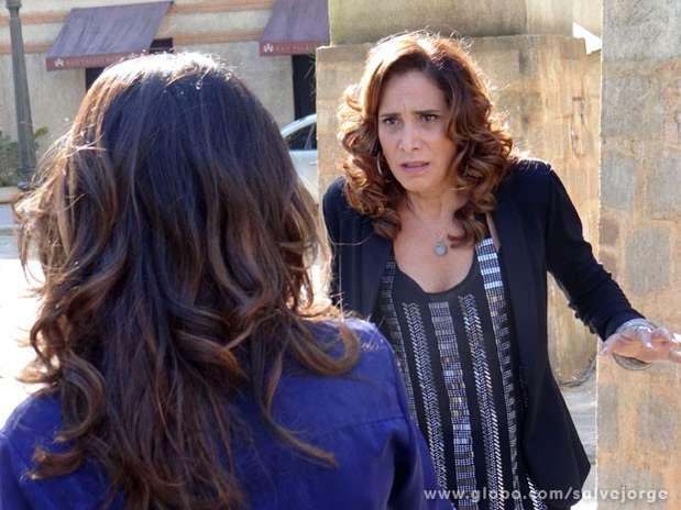 Wanda e Morena se enfrentam no último capítulo Foto: TV Globo / Divulgação