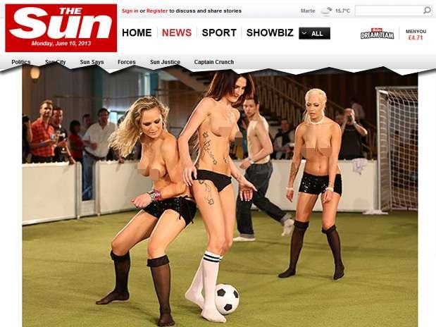 Alemanha recebeu o primeiro Campeonato Europeu Nu de futebol Foto: Reprodução
