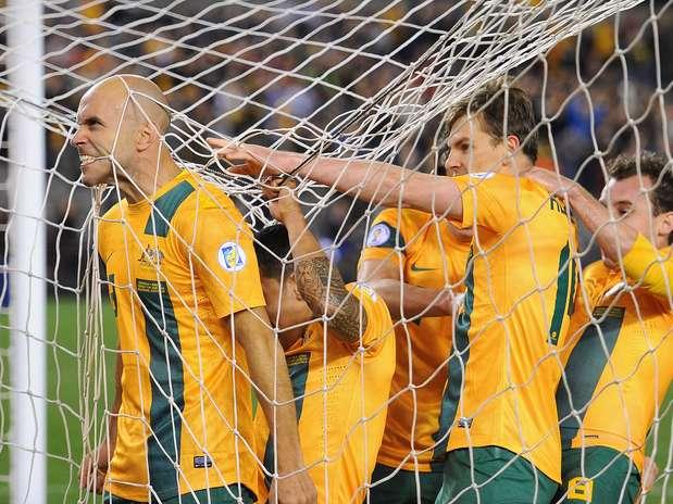 Bresciano abriu o placar da vitória australiana, logo aos 16min da primeira etapa Foto: Getty Images