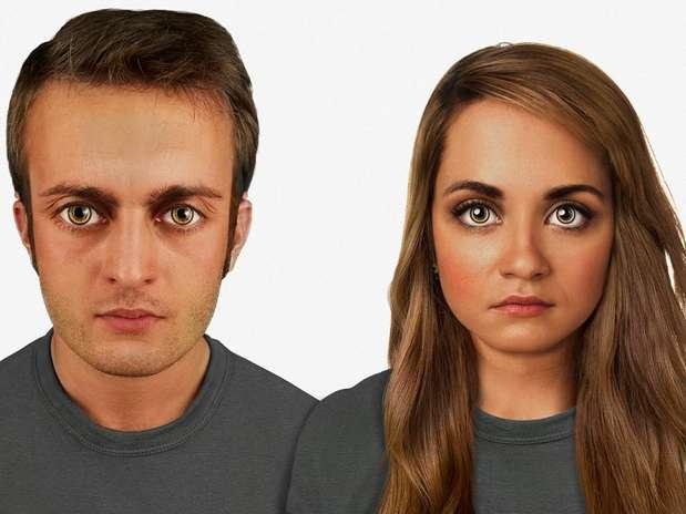 Em 60 mil anos- o rosto será proporcional à proporção áurea. Os olhos serão extremamente grandes, com um verde brilhoso como os de gatos. O arco superciliar será ainda mais pronunciado Foto: Nickolay Lamm/MyVoucherCodes.co.uk / Divulgação