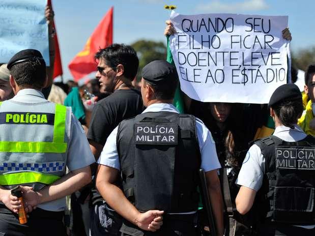 """Imprensa destacouque protestos de sábadofazem parte da""""insatisfação crescente"""" no Brasil Foto: Agência Brasil"""