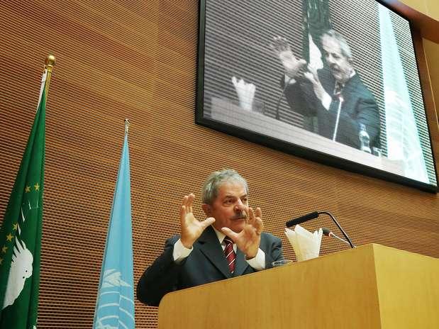 Lula fez o discurso de abertura no encontro sobre segurança alimentar na África Foto: Ricardo Stuckert/Instituto Lula / Divulgação