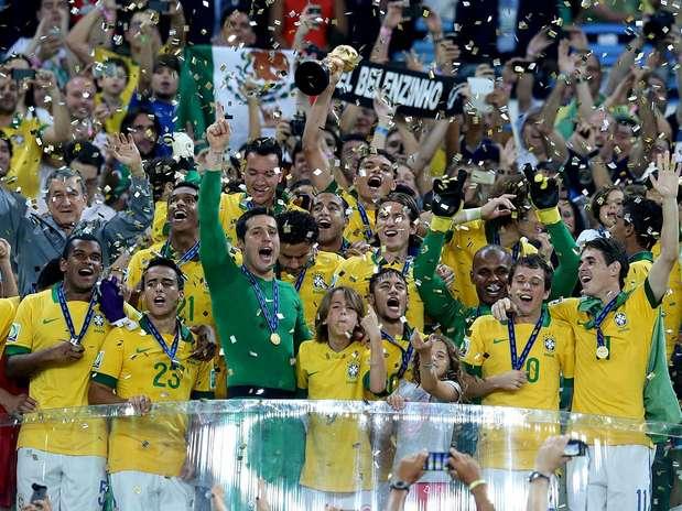 Brasil venceu final por 3 a 0 no Maracanã Foto: Ricardo Matsukawa / Terra