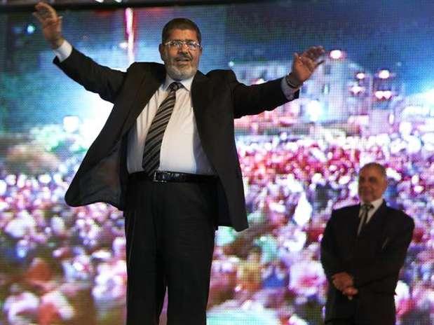Mohamed Mursi, durante a campanha de 2012 Foto: AP