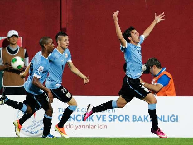 Seleção celeste empatou partida aos 43min do 2º tempo e se deu melhor na disputa de pênaltis Foto: Getty Images