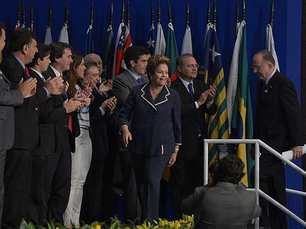 Dilma participa de lançamento da 16ª Marcha dos Prefeitos Foto: Wilson Dias / Agência Brasil