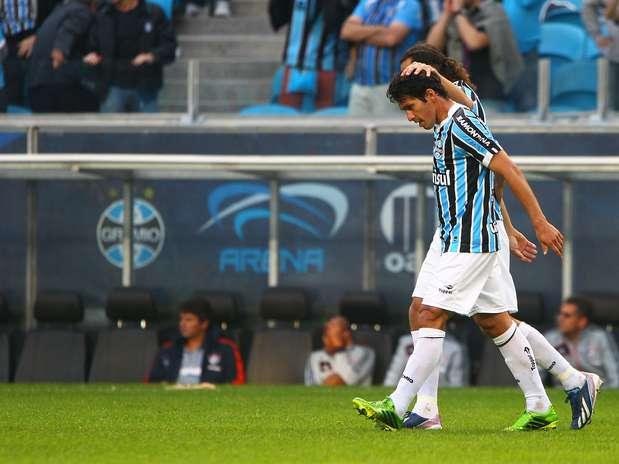 Paraguaio Riveros estreou com gol pelo Grêmio contra o Fluminense Foto: Lucas Uebel/Grêmio FBPA / Divulgação