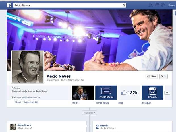 Ex-governador mineiro criticou presidente em post no Facebook Foto: Facebook.com/AecioNevesOficial / Reprodução