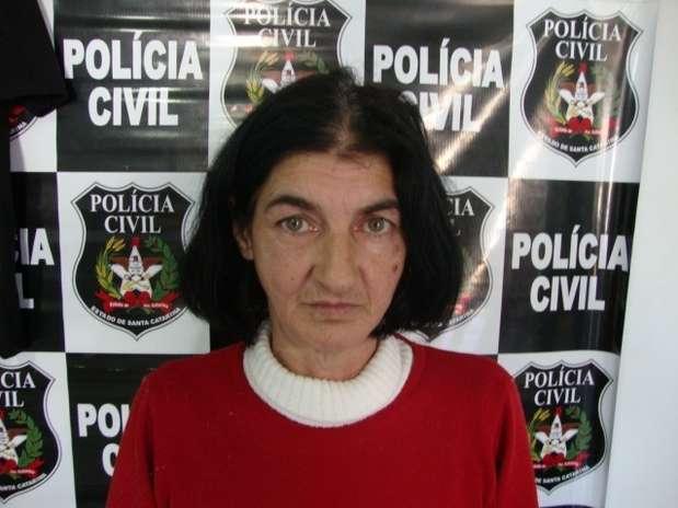 Maria Iracema Matos Godoi matou o marido queimado em 1994 depois que ele recusou sair para passear Foto: Polícia Civil SC / Divulgação