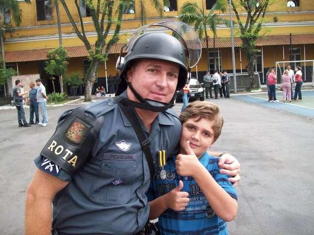O sargento Luis Marcelo Pesseghini e o filhoMarcelo Eduardo Bovo Pesseghini foram mortos a tiros em São Paulo Foto: Facebook / Reprodução